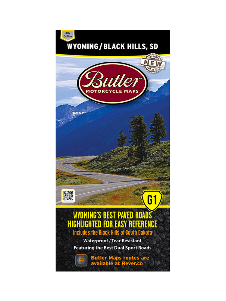 Butler Wyoming and the Black Hills of South Dakota G1 Map
