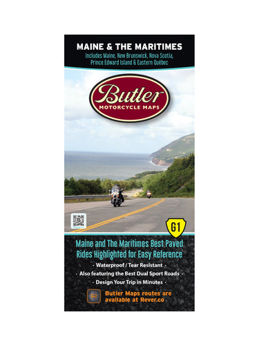 Butler Maine and the Maritimes G1 Map