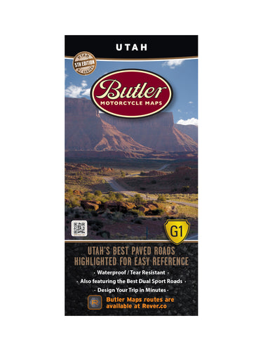 Butler Utah Paved Roads G1 Map