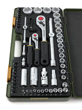 "Load image into Gallery viewer, Proxxon 65-Piece 1/4"" and 1/2"" Drive Socket Set"