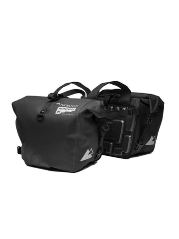 2x 36-58L Pannier Luggage Saddle Bags with Rain Cover For Motorcycle Functional
