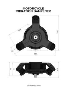 Quad Lock Motorcycle Vibration Dampener