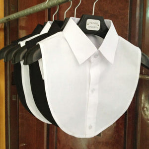 White & Black Blouse Vintage Detachable Clothes