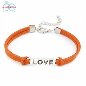 SUSENSTONE 1PC Braided Adjustable Leather Popular Bracelet
