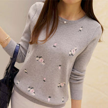 Load image into Gallery viewer, Women Embroidery Knitted Winter Sweater