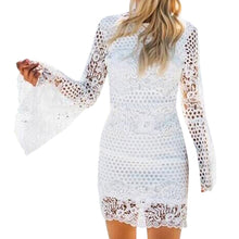 Load image into Gallery viewer, Women Lace Sleeve Bodycon Cocktail Party Pencil Dress Bandage Dresses