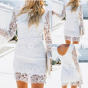Women Lace Sleeve Bodycon Cocktail Party Pencil Dress Bandage Dresses