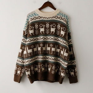 Winter Warm Loose Long Sleeve Pullover Clothes
