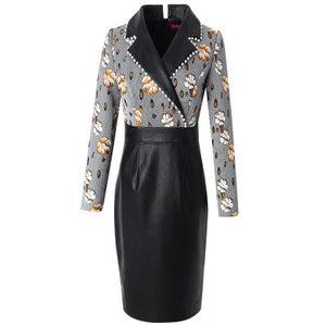 Pencil beading Office Lady dress