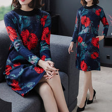 Load image into Gallery viewer, Women's Warm Thick Fleece Casual Winter Dresses
