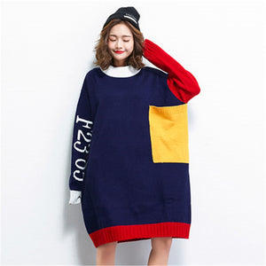 Winter Knitted Dress casual Oversized