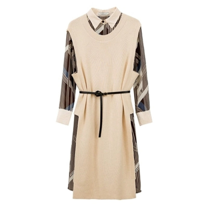 winter French retro dress temperament fashion women's Loose two-piece suit dress AS940