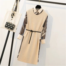 Load image into Gallery viewer, winter French retro dress temperament fashion women's Loose two-piece suit dress AS940