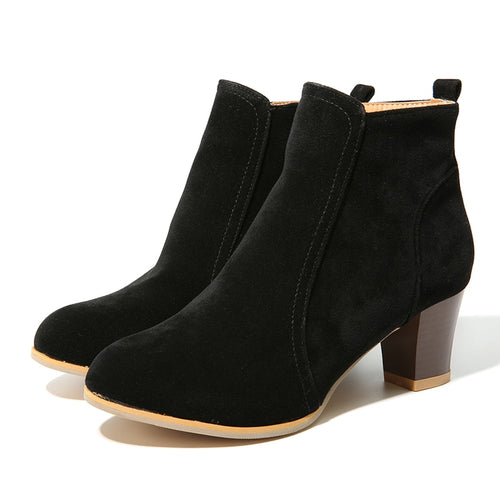 Women 6cm High Heels Ankle Boots