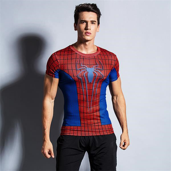 4c0201234 Spiderman Ironman Superman Captain America Marvel T shirt – ibestbag