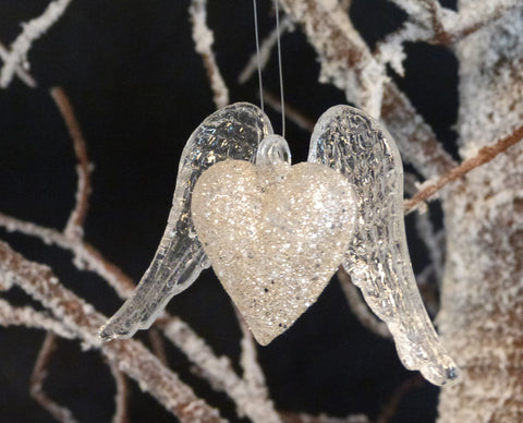 Heart With Wings Tree Decoration