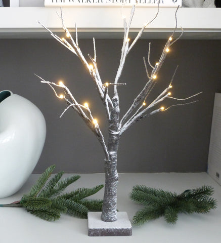 Snowy Paper LED Tree
