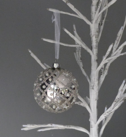 Silver Pearl Bauble
