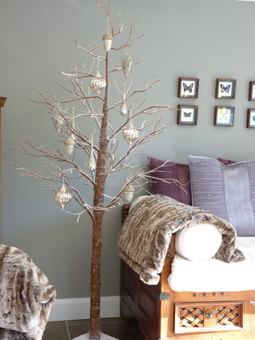 Large Paper Tree with Snowy Branches