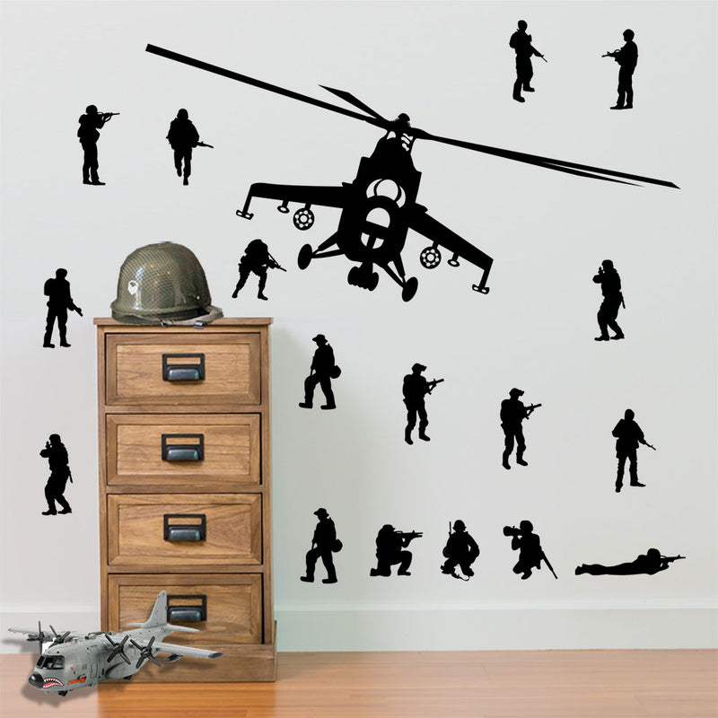 Army Soldiers and Helicopters Pack A9