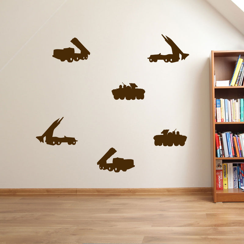 Army Rocket Launcher Tank Wall Window Stickers Decals Kids Fun Vinyl Decor A172