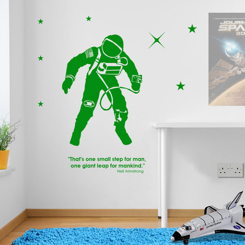 Astronaut Quote Armstrong Wall Stickers Decals Kids Decor Window Colourful A140