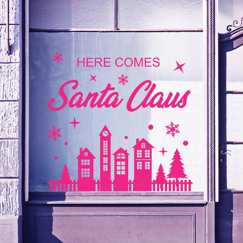 Christmas Shop Window Santa Xmas Baubles Decal Display Wall Stickers Festive B63