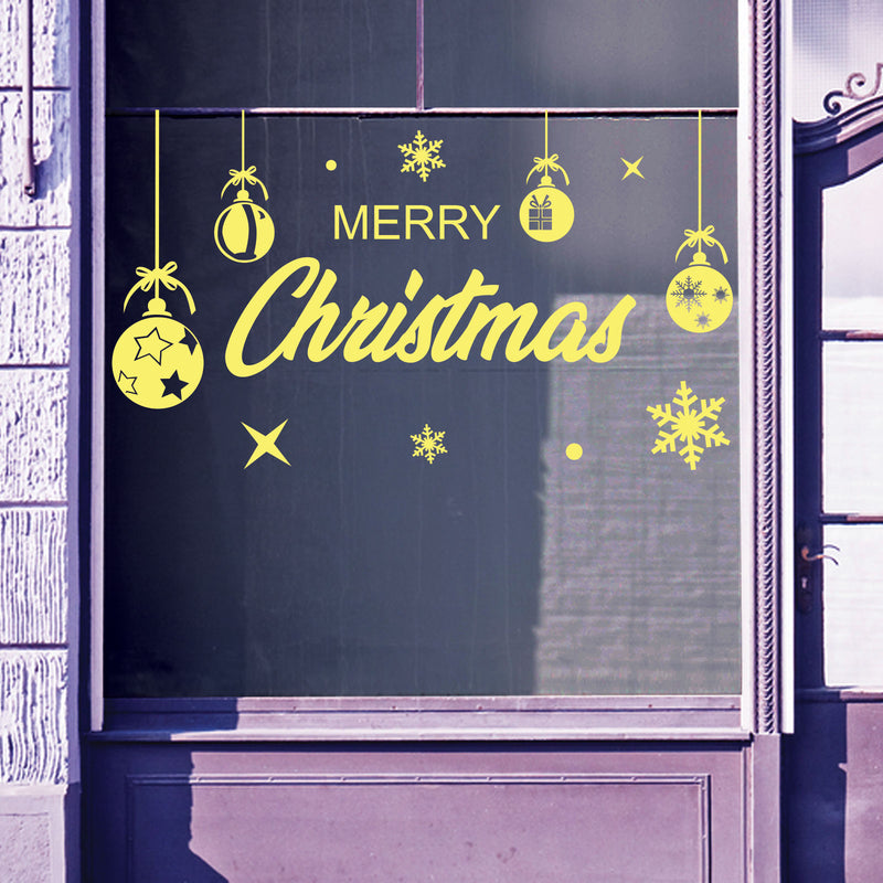Christmas Shop Window Merry Xmas Baubles Decal Display Wall Stickers Festive B62