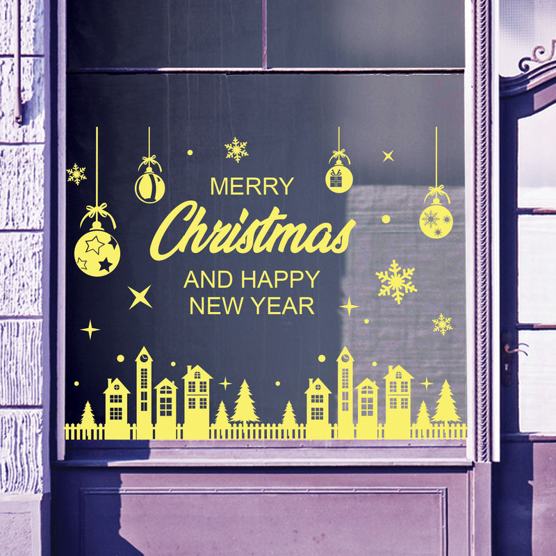 Christmas Shop Window Stickers Decals Display Xmas Wall Stickers Festive B61