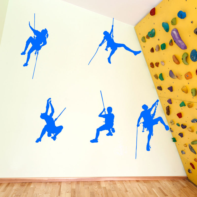 5 Climbers Set Wall Window Stickers Decals Fun Kids Decor Colourful Vinyl A124