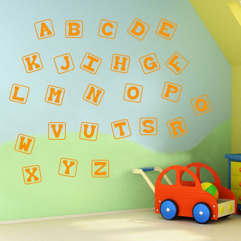 Alphabet Letters A to Z Wall Stickers Decal Nursery School Children Kids A131