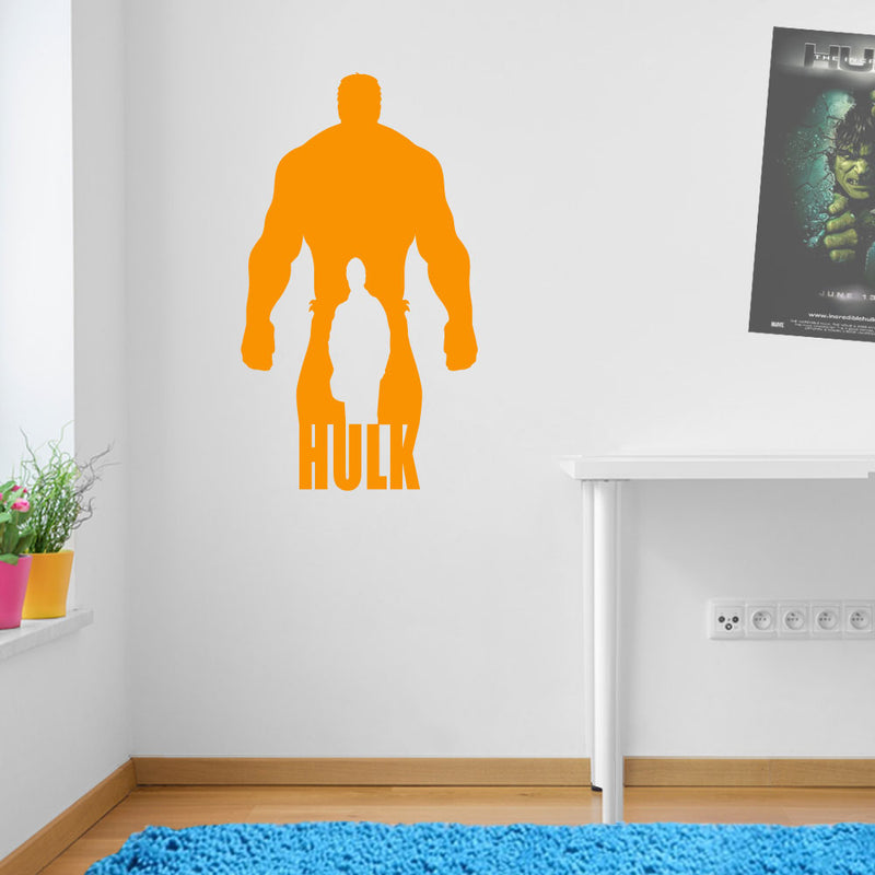 Huge Hulk And Man Wall Stickers Decal Kids Decor Window Fun Vinyl Colourful A158