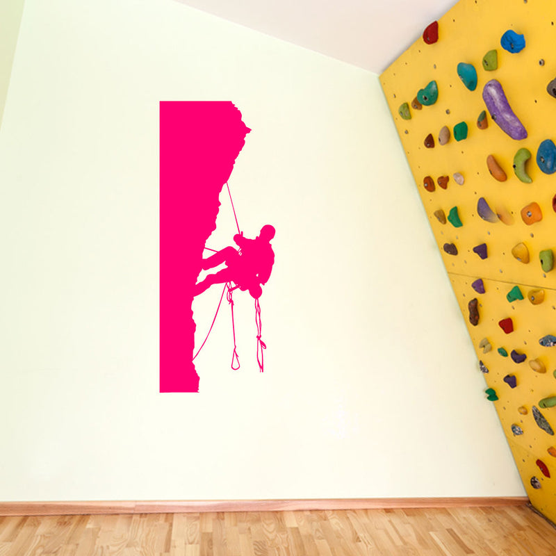 Climber Climbing Man Wall Window Stickers Decals Fun Kids Decor Vinyl A127