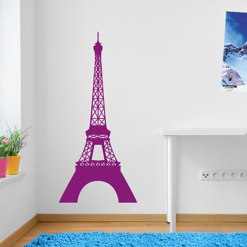 Eiffel Tower Paris Wall Window Stickers Decals Vinyl Home Decor Colourful A126