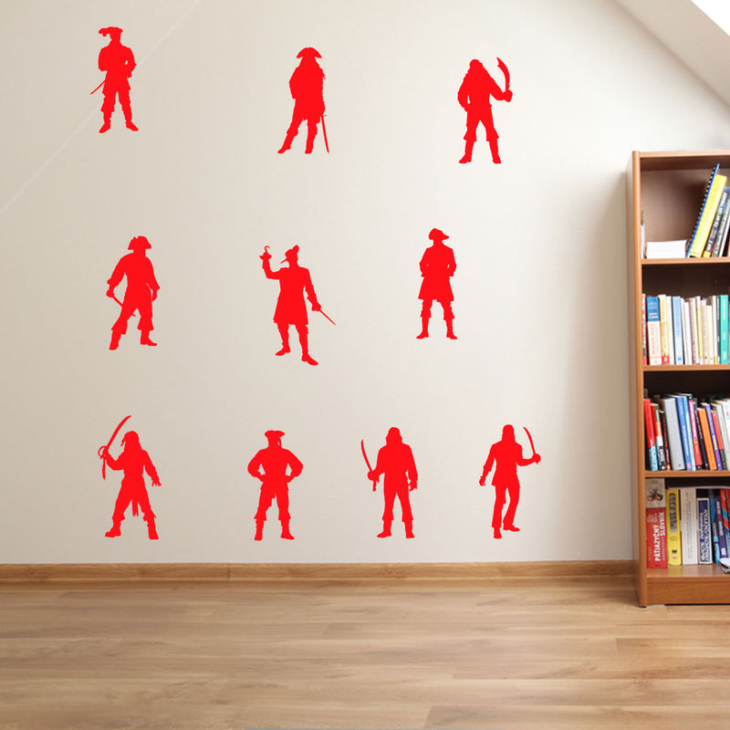 Pirates Swords Set of 10 Wall Stickers Decal Kids Decor Window Fun Vinyl A133
