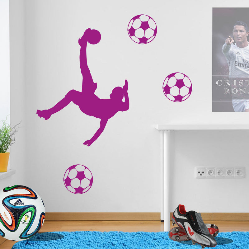 Football Players Wall Stickers Figures A78