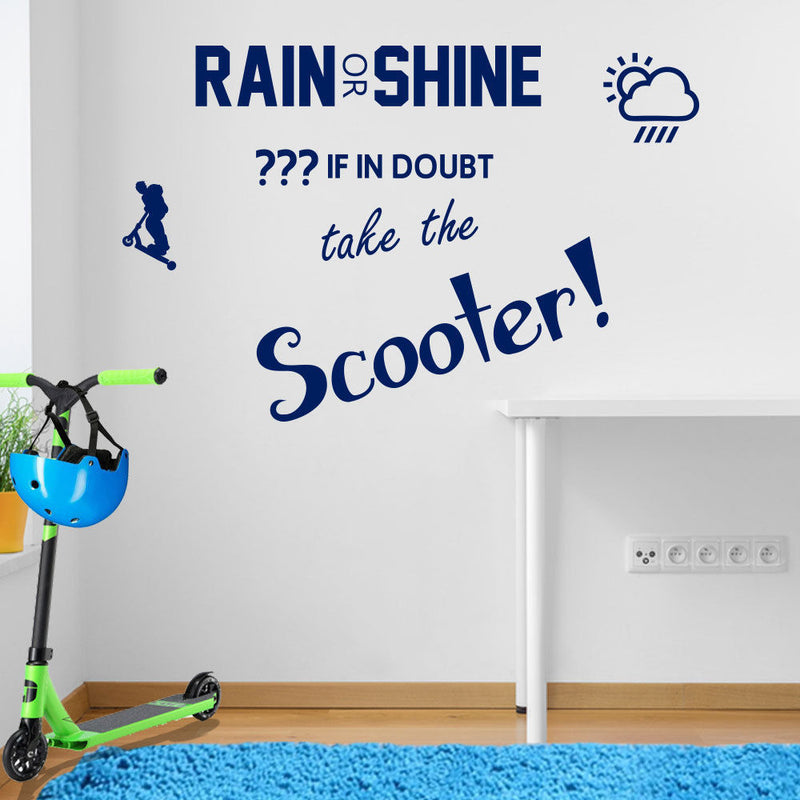 Rain or Shine Scoot Wall Sticker A106