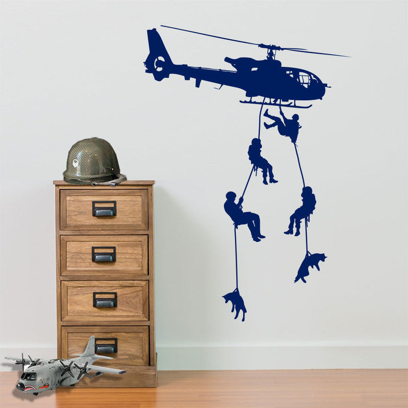 Army Helicopters Parachute Soldiers A39