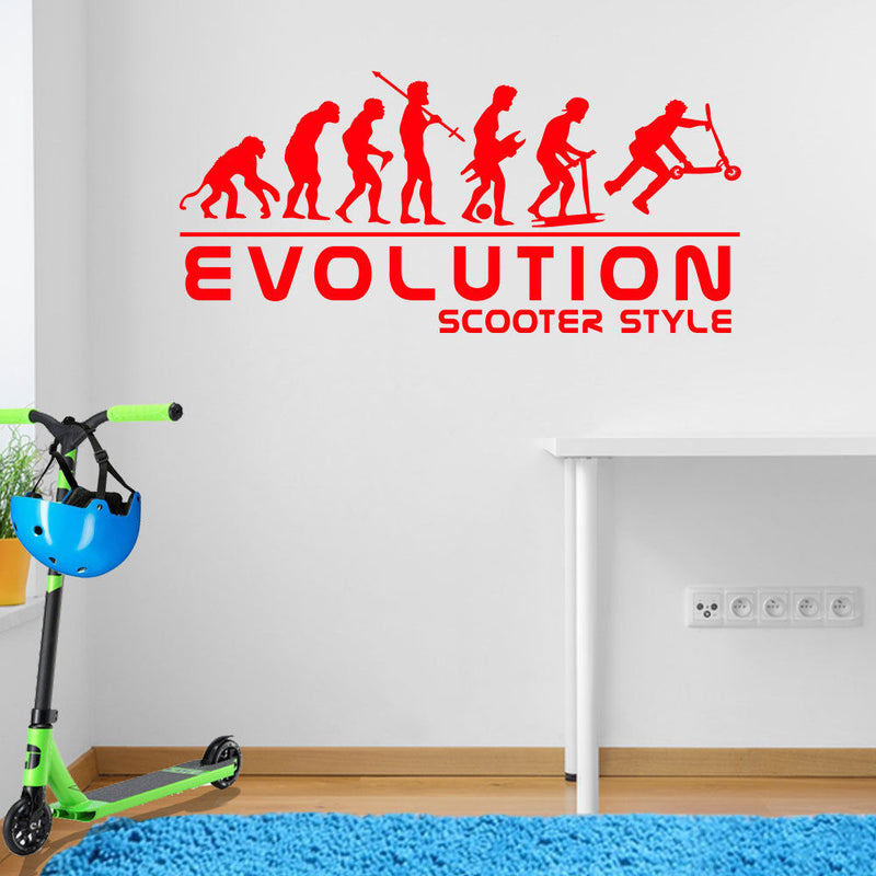 Scooter Evolution Wall Sticker A105