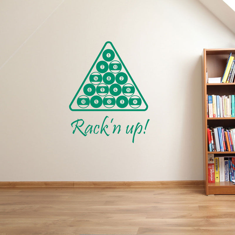Pool Set Triangle Sticker  A67