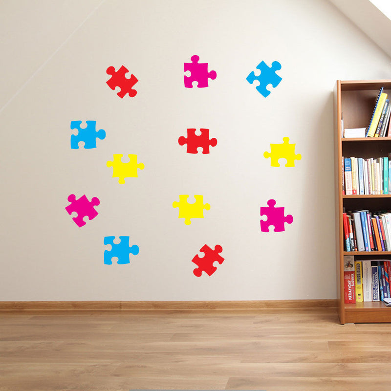 Jigsaw Pieces Wall Stickers Nursery A27