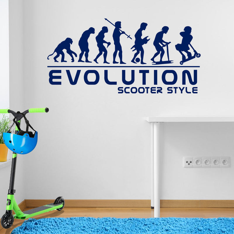 Scooter Evolution Wall Sticker A104