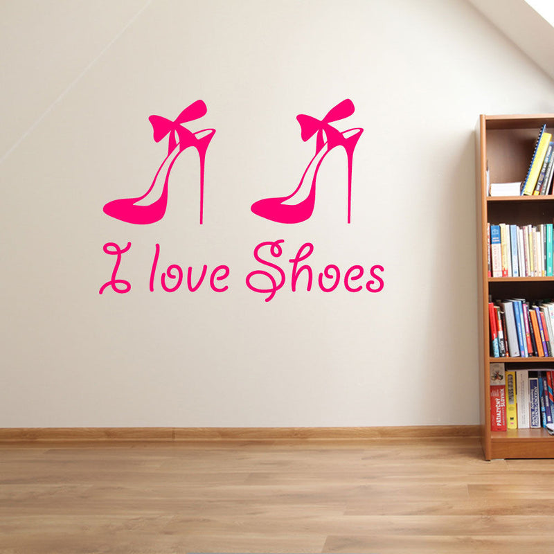"""I Love Shoes"" Wall Stickers A89"