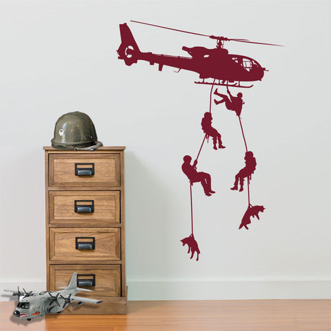 Army themed wall stickers