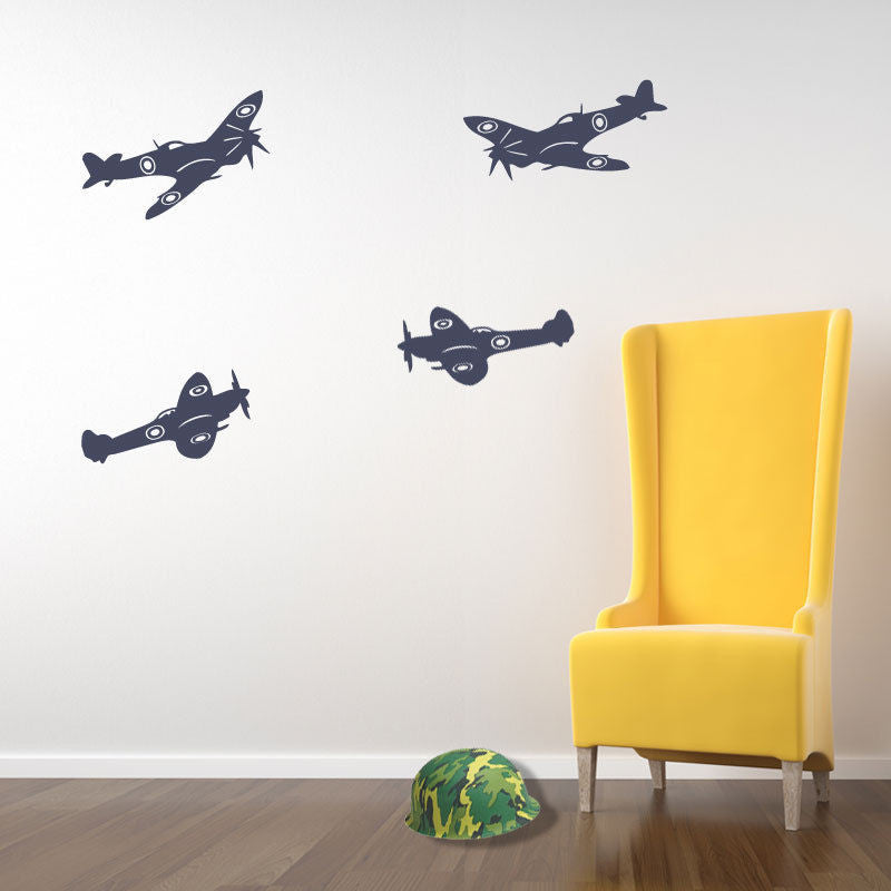 Army Wall Stickers Spitfire Aircraft Airplane A24