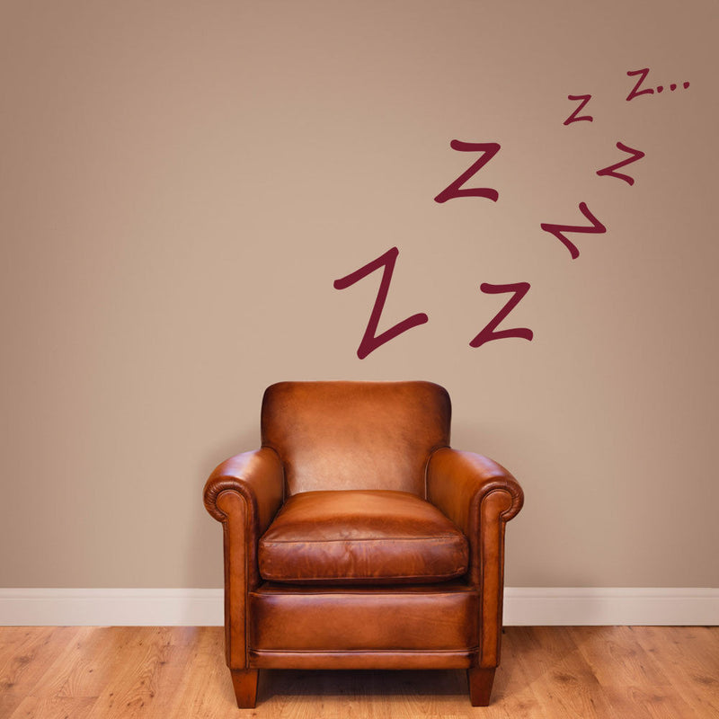 Vinyl Z,Z,Z… Stickers Sleeping A56