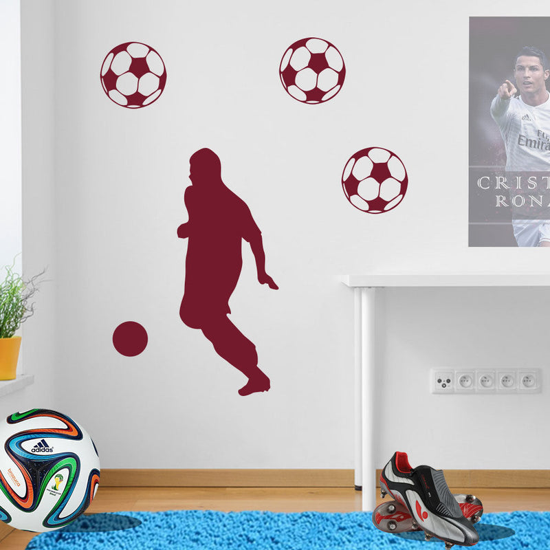Football Figure Wall Sticker A73