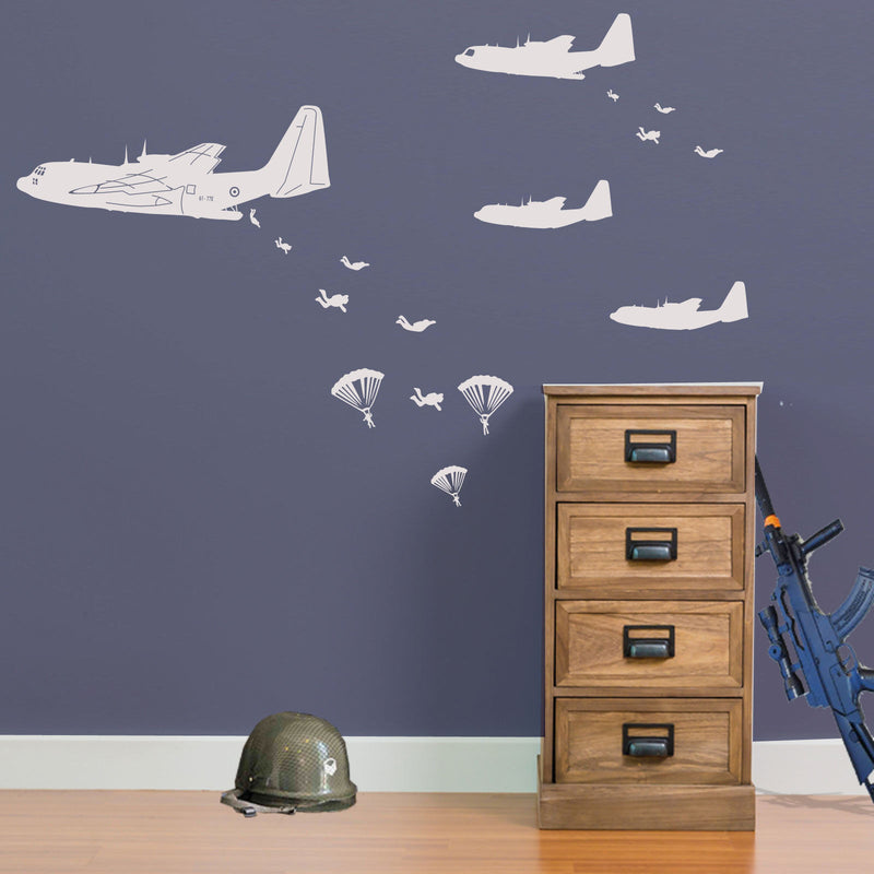 Military Air Assault Wall Stickers A17
