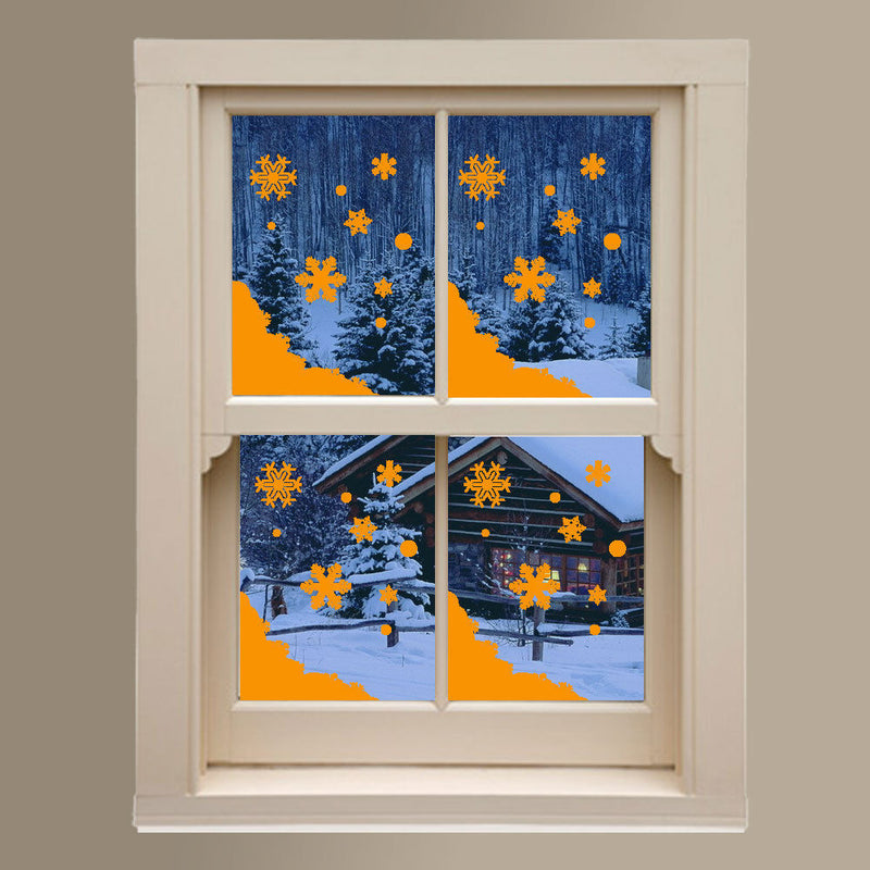 Christmas Xmas Display Shop Window New Snow Flakes Snowy Decals Stickers A290