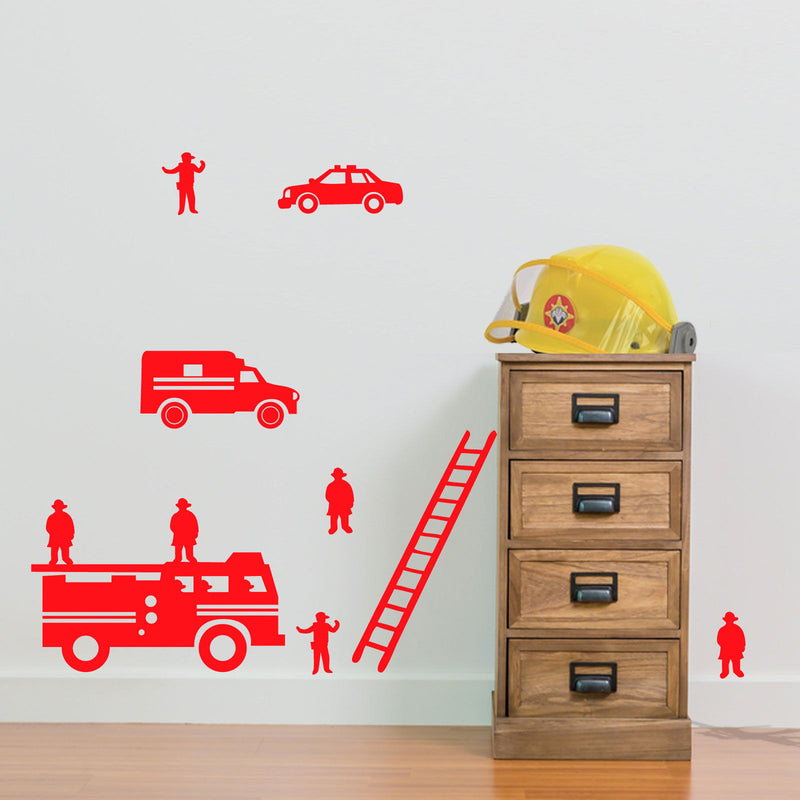 Fire Engine Team Vinyl Decals A16